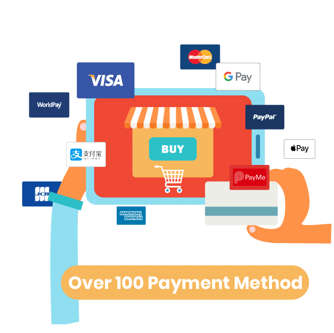 Shopify 網店(Eshop) 支援逾百種收費關閘(Payment Gateway)