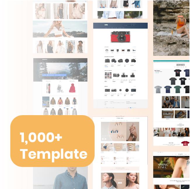 shopify網店(Eshop)逾千個設計主題供選擇(免費/付費)